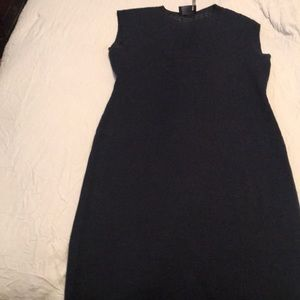 Navy blue knit dress